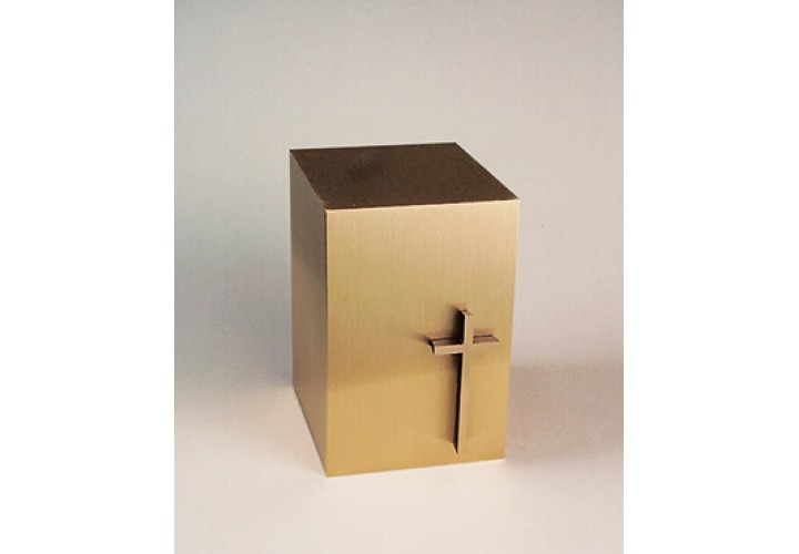 Bronze Cube with Slimline Cross #35-894